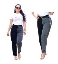 Pantalon jean - Noir gris