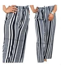 Pantalon rayée noir et blanc large