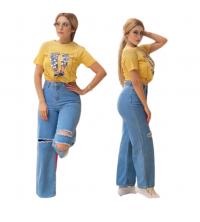 Pantalon jean large