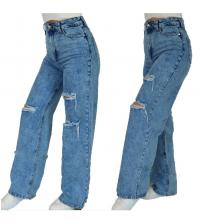 Pantalon jean large déchiré