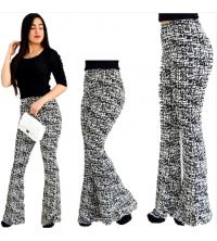 Pantalon patte éléphant femme