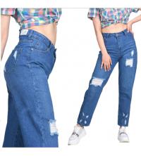 Pantalon jean déchiré boy friend