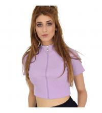 Top violet -Femme