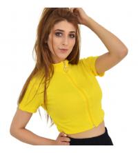 Top jaune -Femme
