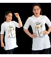 Pull femme - Noir et blanc