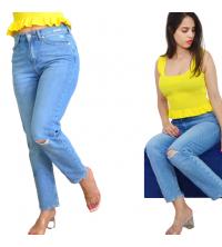 Pantalon jean boy-friend déchiré