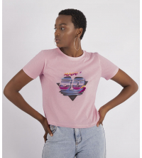 T.SHIRT ROSE MADE IN 80