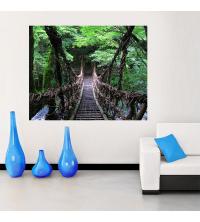 Tableau décoratif pont bois - 100 x 80 cm